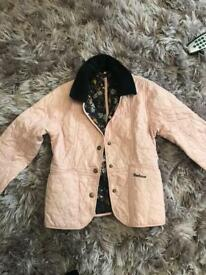 Girls Barbour coat jacket size s