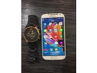 Galaxy s4 with Armani watch