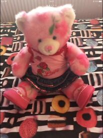 BUILD A BEAR SPRING THEMED TEDDY WITH TWO OUTFITS