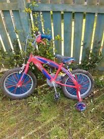Boy's Spider Man bike (6 years old)