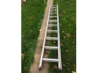 Full size lightweight ladder, aluminium, extendable