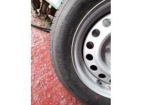 Caravan spare wheel and tyre - good condition, Trailermaxx 185/65R14 6PR .