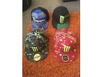 4x monster energy hats
