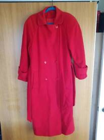Lovely red coat size 10