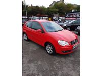 2008 VW POLO 1.4 MATCH 3 DOOR RED SEPT 2018 MOT 86K WITH HISTORY TIMING BELT DONE ALLOYS CD EW EM +