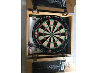 Phil Taylor World Championship Dart Board & 2 Sets of Darts
