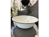 Vintage Enamel Wash Bowl