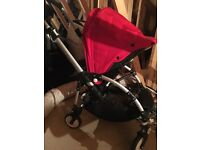 Bugaboo bee pram light weight, hardly used. Great condition add on's included