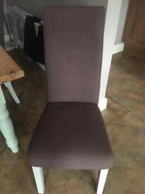 6 x Fabric Dining Chairs