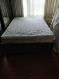 FREE double bed: divan base and mattress