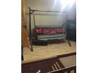 Large 3 seater garden swing for sale