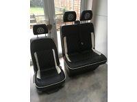 T5 VW Transporter Sports seats leather slight damage to driver seat