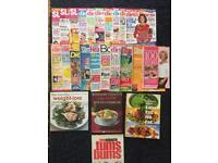 Bundle lot of diet and low fat cookbooks