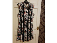 black lace floral dress new without tag