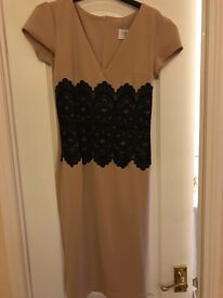 Size 10 Amy Childs nude and black dress