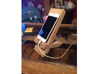 Wooden hand made deck chair for your phone/kindle