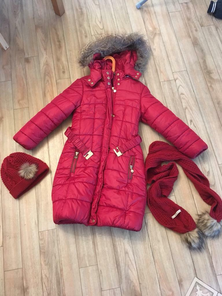 Girls mayoral coat, hat and scarf