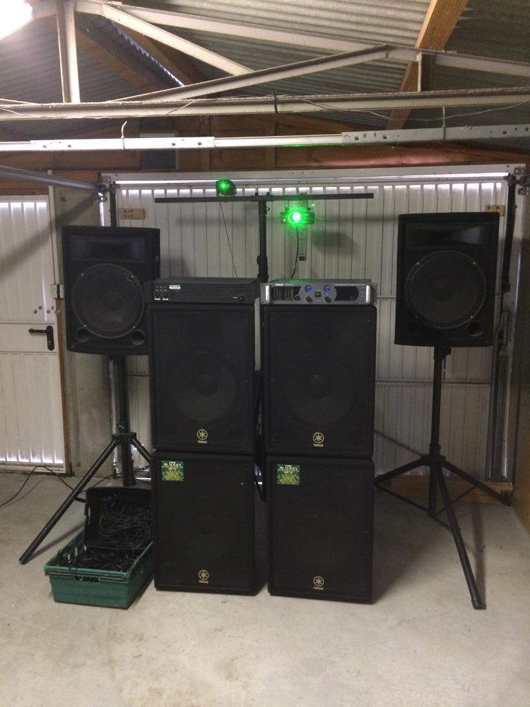 Disco Setup PA System Mobile Dj Business