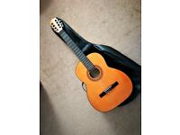 GUITAR CLASSICAL ACOUSTIC TATA FULL SIZE NYLON STRUNG + BAG