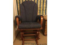 Dutailier nursing chair in blue
