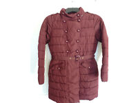 Girls padded winter coat, threequarter length by Next. Age 13yrs - 14yrs. Height 164cms.