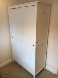Ikea Hemnes white stain wardrobe