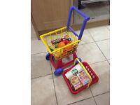 Shopping Basket & Trolley & Food