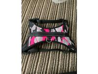 PINK AND BLUE DOG HARNESS LARGE WITH LOCK