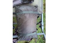 Trakker tempest Brolly system with over wrap and wide boy chub bed
