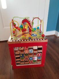 Wooden Activity Cube - £8
