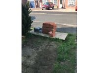 Common bricks, engineer bricks, thermalite blocks