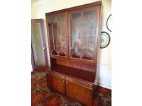 Display cabinet side unit board with lights