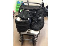 Mountain Buggy Double Urban Duo (not duet) with carrycot
