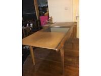 Elegant Vintage Retro G Plan Style Teak Sliding Glass Top Coffee Table 1960s