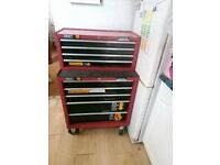 Halfords professional roller bearing tool cabinets bottom and middle boxes