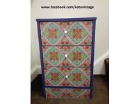 hand decorated chest of 3 drawers