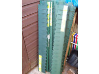 14 lengths 1m long x 13cm high garden lawn gravel plastic edging border strips