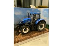 NEW HOLLAND MODEL TRACTOR FARM T7.315 BLUE BURAGO AGRICULTURE Boxed