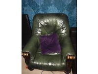 leather sofa green 3 plus 1 plus coffee table