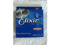 Set of Elixir Nanoweb 11-49 Medium Electric Guitar Strings