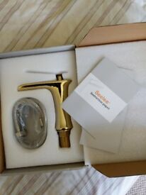Beelee Gold Mixer Waterfall tap for kitchen or bathroom brand new and boxed