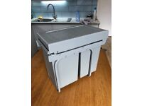 Howdens pull-out built in kitchen bin 2 compartments