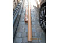 Soil Pipe 3m + 92cm Lengths of Terracotta Recore Technology PVC-u (New/unused - see description)