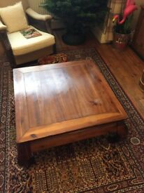 Oriental Chinese style low table solid wood