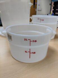 2 & 6 Quart Translucent Dough Bucket for Dough Rising or Flour Storage