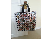Harrods Cotton & PVC Shopping Bag