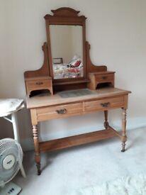 Edwardian satin wood dressing table