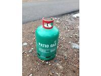 Empty patio gas bottle