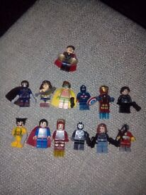 Marvel & DC Minifigures X 13 (BRAND NEW) not!!! Lego but compatible