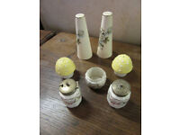 Trio of cruet sets - ornament/ decorative or could be used